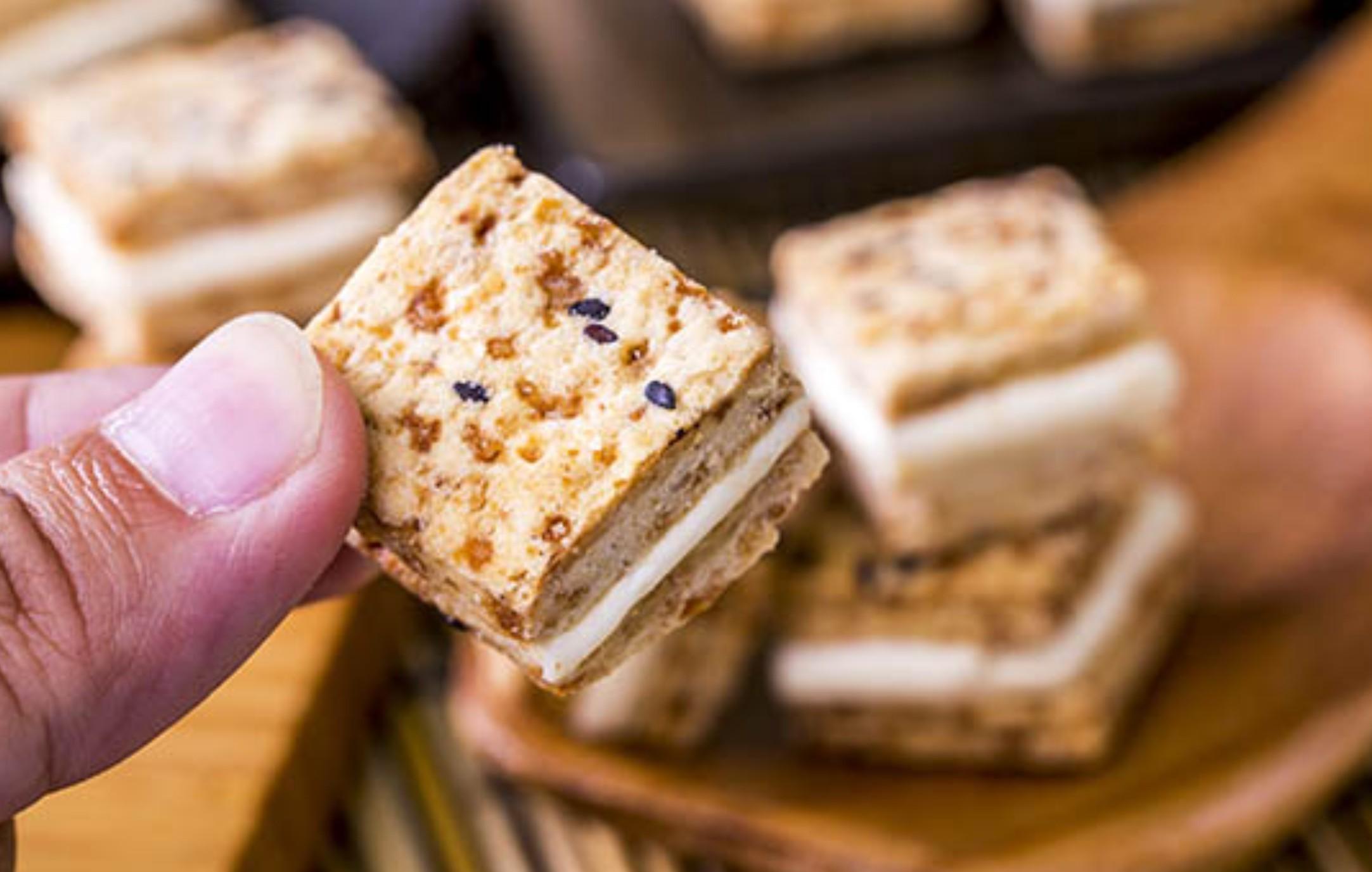 【蘿蒂烘焙坊】爆漿牛軋糖方塊一口酥 (低糖/低熱量)/8包免運組   (即日滿20包送1包呦)(可備註加購手提紙袋2元)
